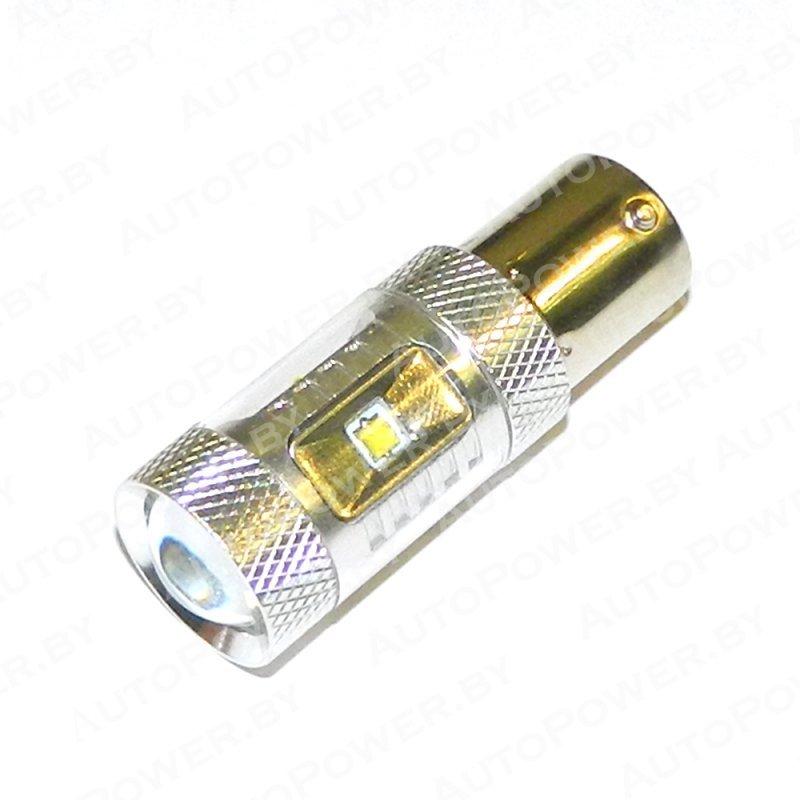 Светодиод P21W (S25, BA15S, 1156) - 30W
