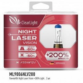 Галогенная Лампа  HB4/9006 ClearLight 12V-55W Night Laser Vision +200% Light