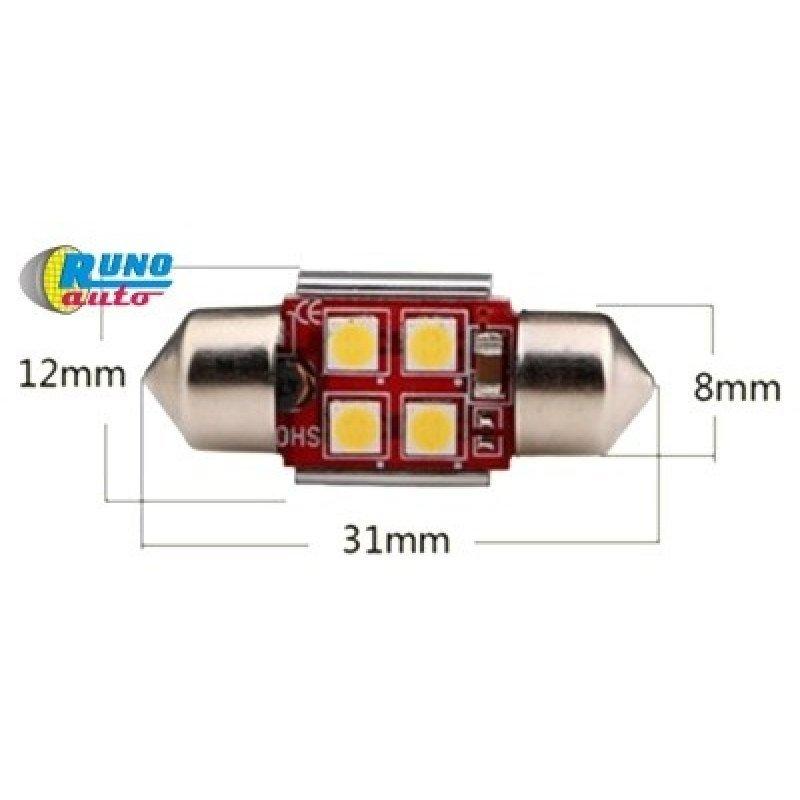 """Светодиод SV8,5-3030-4SMD 31mm (C5W) CANBUS (с """"обманкой"""")"""